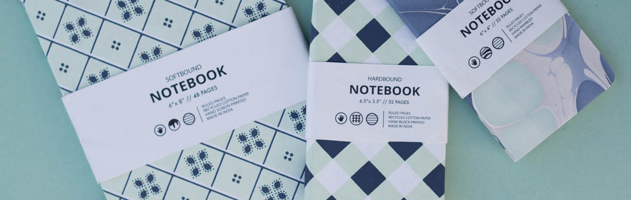 Soft bound notebooks