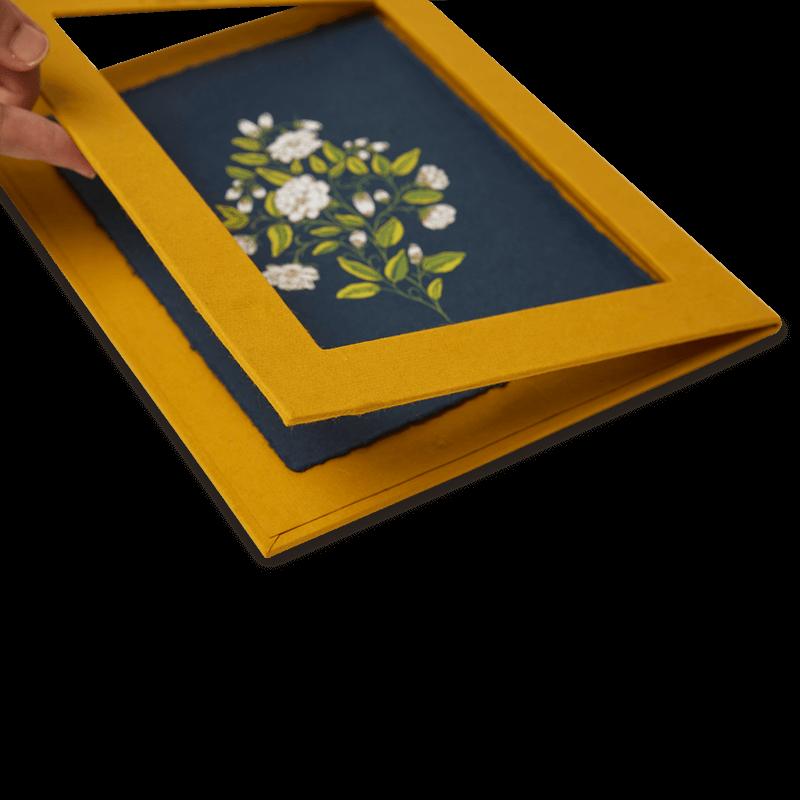 Framed Mogra Art Print