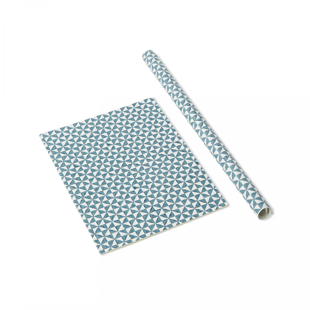 Blue Checkers Wrapping Paper