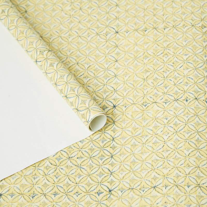 Vintage Yellow Wrapping Paper