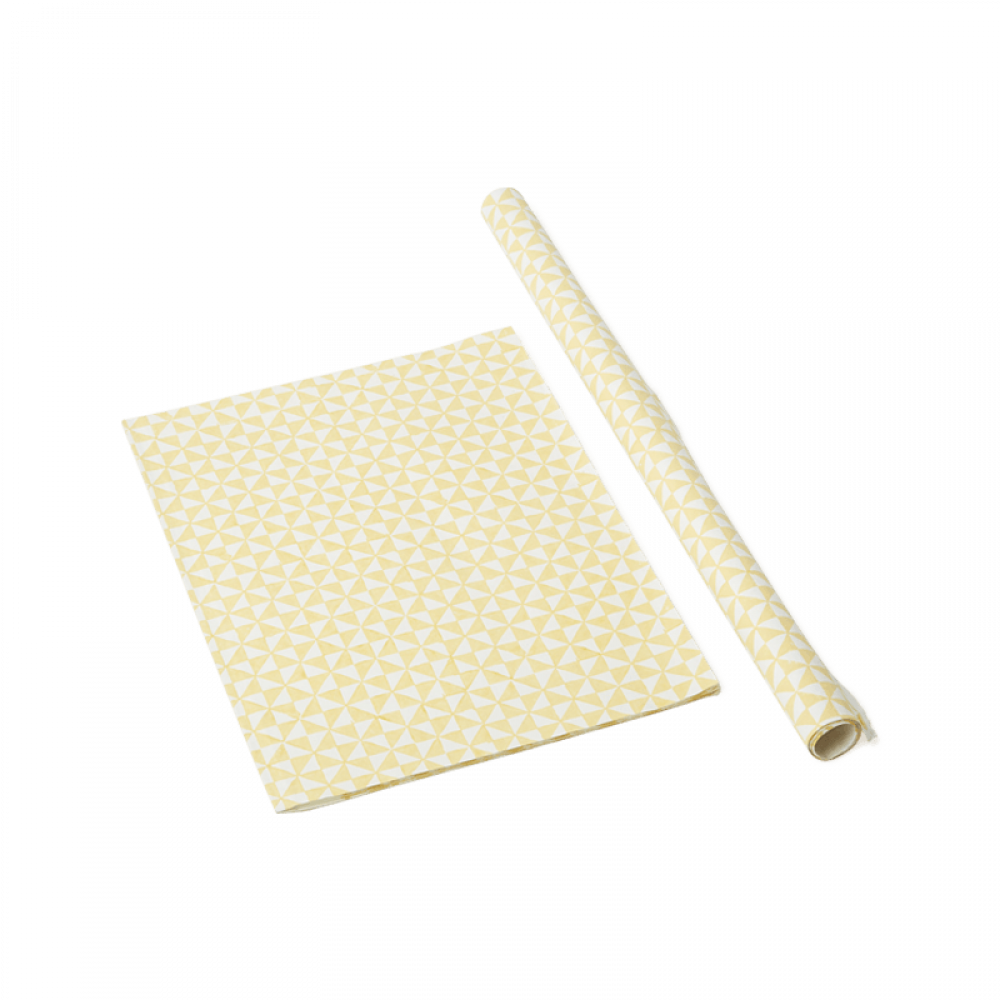 Yellow Checkers Wrapping Paper