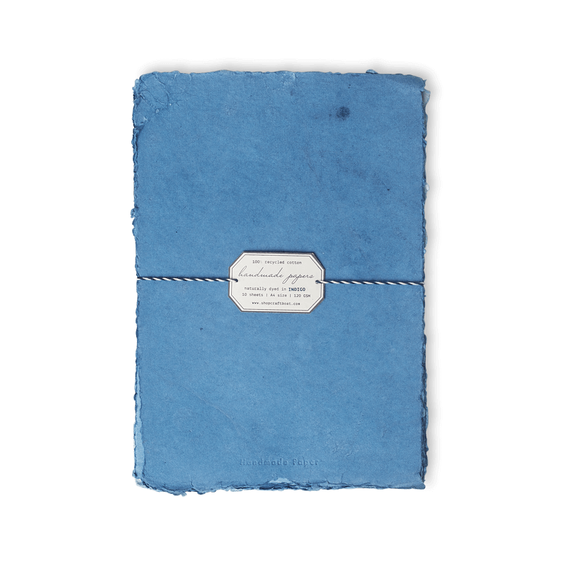 Indigo Dyed Papers