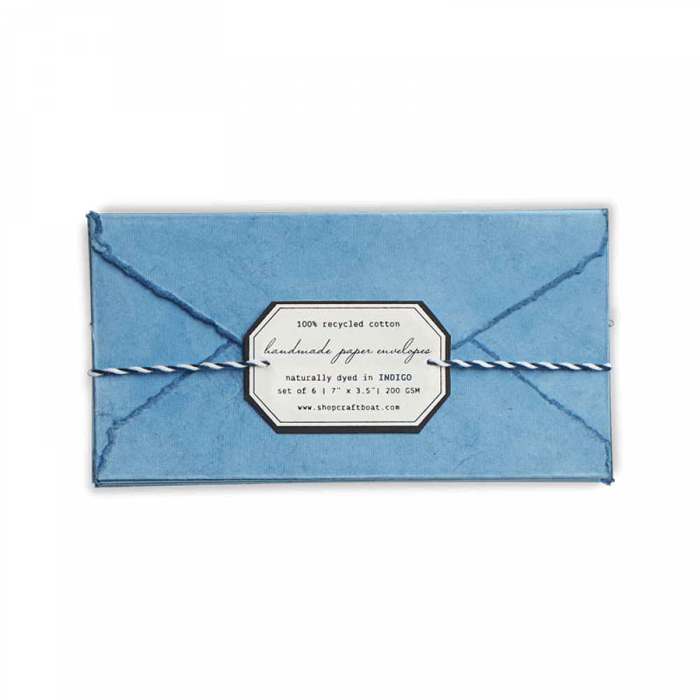 Naturally Dyed Envelopes (L)