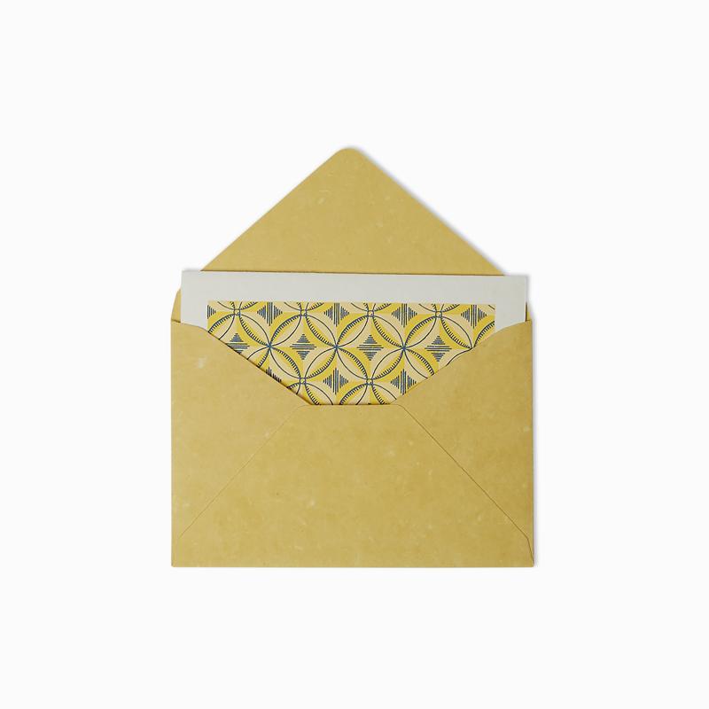 Vintage Yellow Greeting Card Set