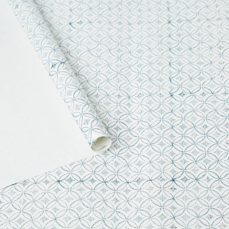Blue Circles Wrapping Paper